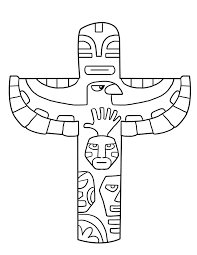 totem pole free coloring pages on art coloring pages
