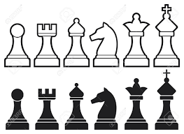 chess pieces including king queen rook pawn knight and bishop