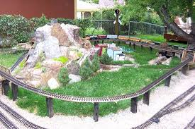 garden train layout railroading
