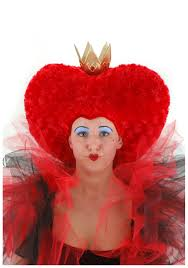 queen of hearts costume wig red queen wigs