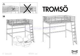 ikea beds tromsã loft bedframe twin assembly instruction download free