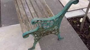 How To Restore Metal Outdoor Furniture by Restoring Edwardian Cast Iron Wood Bench Youtube