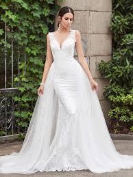 modern wedding dresses modern v neck lace sheath court wedding dress 12690393