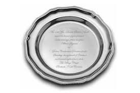 engraved silver platter engraved silver plate with wedding invitation wording or other