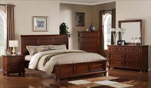 rustic pine bedroom furniture brown stained mahogany wood bed