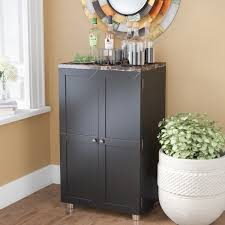 Gray Bar Cabinet Latitude Run Oldsmar Bar Cabinet With Wine Storage U0026 Reviews Wayfair