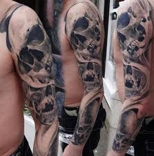 several graphic skulls sleeve by piranha supplies