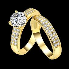 fashion double rings images Eternity love wedding bands women 39 s kc white gold plated double jpg