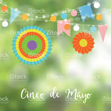 Mexican Party Flags Mexican Cinco De Mayo Greeting Card Invitation Party Decoration