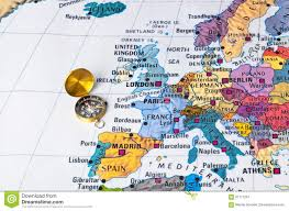 European Map by Europe Map And Compass Stock Photo Image 61111251