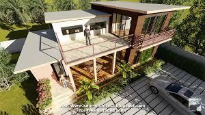 sketchup drawing villa design size 13 3mx9m 2bedroom sam architect