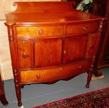 Tiger Maple Furniture Gorgeous North Shore Antique Federal Tiger Maple Server Small