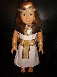 Egyptian Queen Halloween Costume American Doll Clothes Cleopatra Egyptian Queen Dress