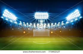 how tall are football stadium lights football arena field bright stadium lights stock vector 773952127