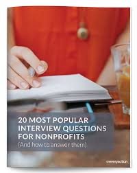 20 most popular interview questions for nonprofits