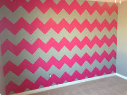 pink grey white chevron striped walls kassadi pinterest hot pink and gray chevron wall