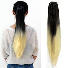 clip on ponytail neverland beauty 21 ombre thick hair claw