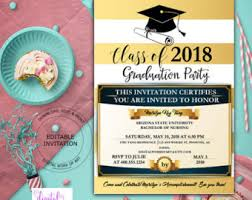high school graduation party invitations graduation party invitations etsy