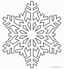 easy coloring pages printable of snowflakes coloring page