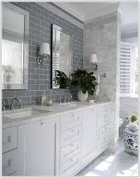 Gray Subway Tile Bathroom by Grey Subway Tile Bathroom Floor Tiles Home Decorating Ideas