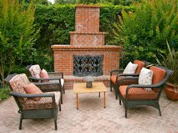 decor u0026 tips outside fireplac for patio design ideas and wicker