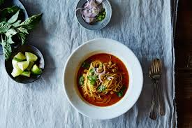 a classic chicken noodle soup with an asian twist