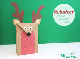 brown paper bag reindeer make these for gift bags or would be