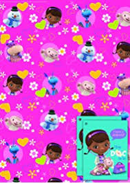 doc mcstuffins wrapping paper doc mcstuffins wrapping paper and gift tags co uk toys