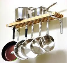 wall ideas double shelf wall hanging pot rack wall mounted pan