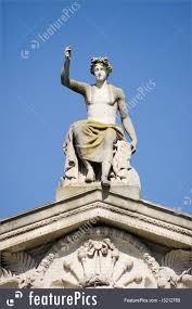 Greek God Statues Sculptures Apollo Statue Ashmolean Museum Oxford Stock Image