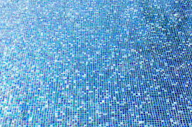 Blue Ceramic Floor Tile Swimming Pool Floor Tiles With Blue Ceramic Mosaic In Stock Photo
