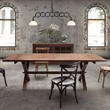 Distressed Dining Room Table Dining Room A Simple Large Distressed Dining Room Table Crossed