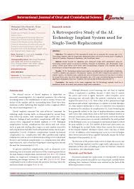 a retrospective study of the al technology implant system used for s u2026