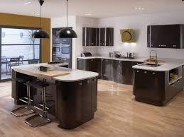 kitchen dark furnished kitchen cabinet with white countertops