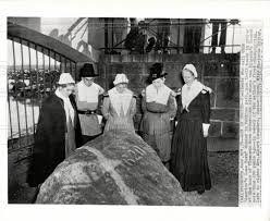 plymouth massachusetts thanksgiving 1949 plymouth rock puritan thanksgiving historic images