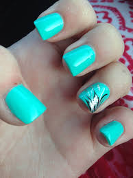 aqua nails with design acrylic nails pinterest aqua nails