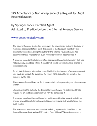 best photos of irs reconsideration letter example irs audit