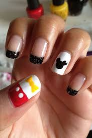 Mickey Mouse Nail Art Design How To Decorate Your Nails With Mickey Mouse Nail Art
