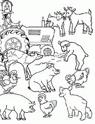 farm animals coloring pages kids printable coloring