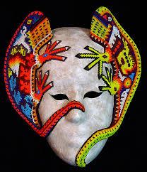 bead masks huichol beaded masks at mexico lindo mercado dsc04795