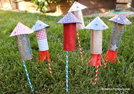 Kids Craft Center - kids craft 4th of july rockets happiness is homemade