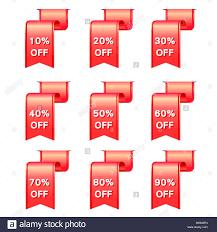 discount ribbon vector ribbon discount label elements set stock photo royalty