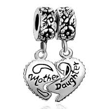 pandora jewelry amazon com pugster heart love mom mother daughter charms jewelry