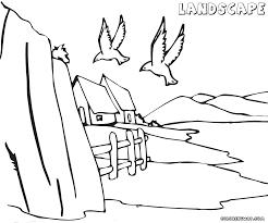coloring pages for landscapes landscape coloring pages with wallpaper desktop mayapurjacouture com