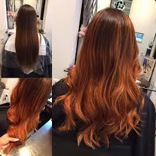 Frisuren Lange Haare Kupfer by Balayage Vorher Nachher Copper Kupfer Hair Lange