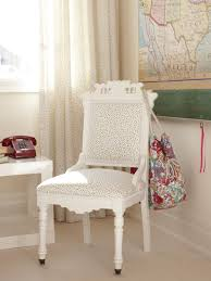 White Desk Chairs With Wheels Design Ideas White Wood Desk Chair With Tiny Colorful Polka Dot Upholstered For
