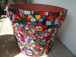 mosaic flower pot by marie lloyd my work pinterest mosaic