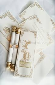 scroll wedding programs scrolls of programs wrapped with gold ribbon