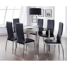 chaises table manger noria ensemble table à manger 6 personnes 130x75 cm 6 chaises en