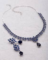 blue sapphire necklace sets images Buy designer necklace sets traditional necklace set studded with jpg